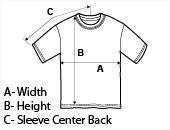 T-Shirt Size Diagram