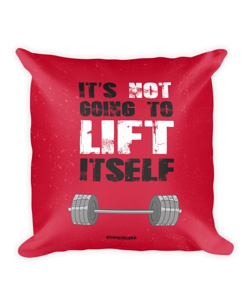 Pillow-its-not-going-to-lift-itself Red
