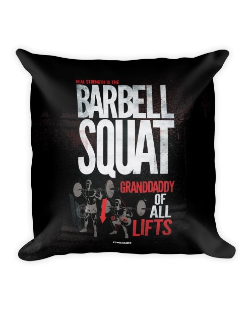 Pillow-Barbell-squat