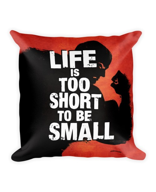 Pillow-Life-is-too-short-Red 1