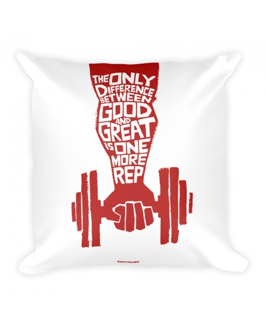 Pillow-The-only-difference WhiteRed