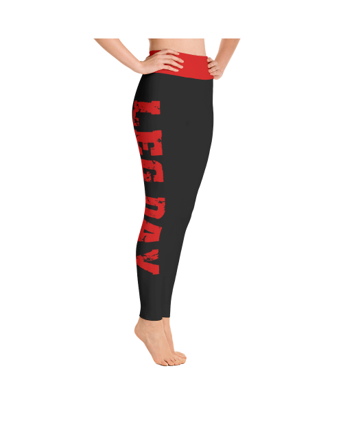Leg Day Leggings in Black and Red