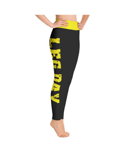 Leg Day Leggings in Black and Yellow